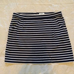 Striped Skirt with Pockets